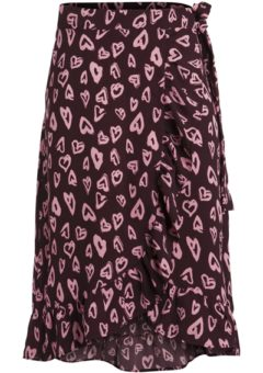 Pieces - Nederdel - PC Lizzy Wrap Skirt - Winetasting
