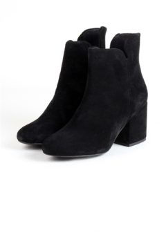 Pieces - Sko - PS Pepper Suede Boot - Black