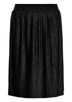 Soaked In Luxury - Nederdel - Corey Plisse Skirt - Black
