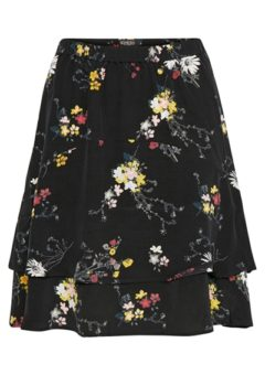 Soaked In Luxury - Nederdel - Hanne Skirt - Black Floating Flower