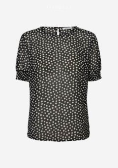 Amalie T-shirt Sort prikket
