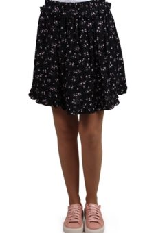 Pieces - Nederdel - PC Megan Skirt - Black/Flowers