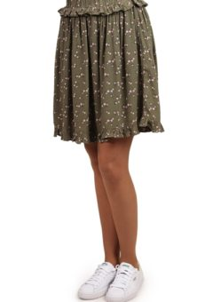 Pieces - Nederdel - PC Megan Skirt - Deep Lichen Green/Flowers