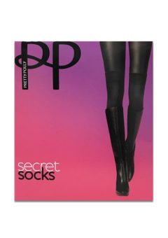 Pretty Polly - Strømper - Secret Sock Over Knee Tights - Black