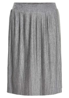 Soaked In Luxury - Nederdel - Corey Plisse Skirt - Medium Grey Melange