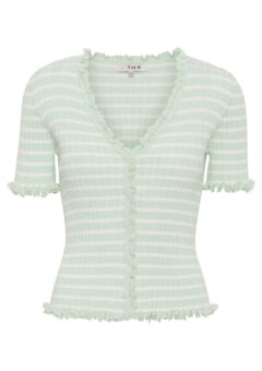 A-View - T-shirt - Fabia SS Tee - Pale mint/Off white